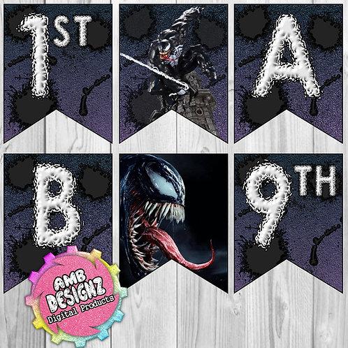 Venom Party Banner Party Supplies