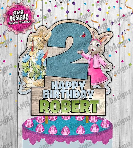 Peter Rabbit Cake Topper Centerpiece - Peter Rabbit Party Supplies