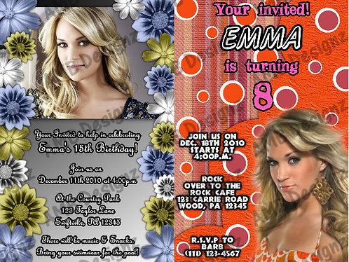 Carrie Underwood Custom Digital Invitation