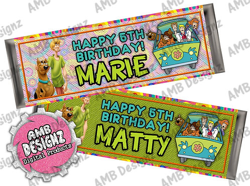 Scooby Doo Candy Bar Wrap, Scooby Doo Party Supplies