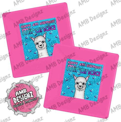 Llama Party Plates - Llama Party Supplies