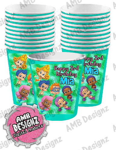 Bubble Guppies Party Cups Party Supplies