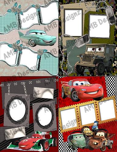 Disney's Cars 2 Digital Scrapbooking Premade Album/Pages