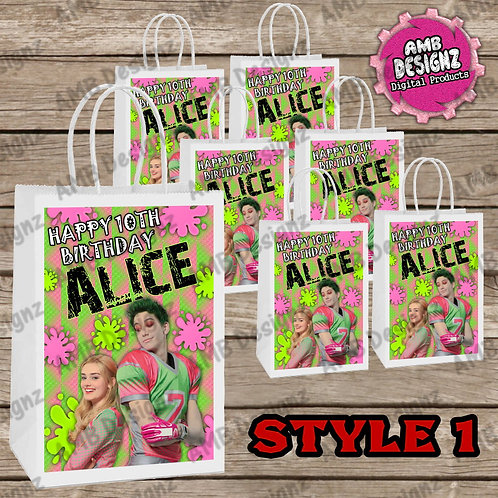 Disney's Zombies Favor Bag Label Party Supplies - Disney's Zombie Party Supplies