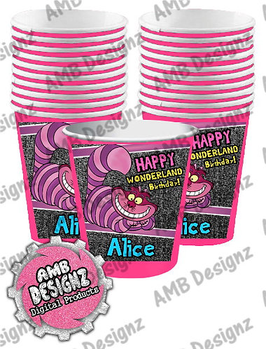 Alice in Wonderland Party Cups Party Supplies