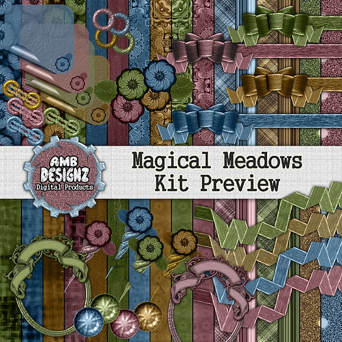Magical Meadows Digital Scrapbooking Kit