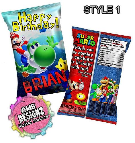 Mario Chip Bag Party Favor Party Supplies