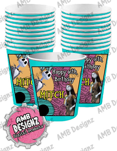 Nightmare before Christmas Party Cups - Nightmare before Party Supplies