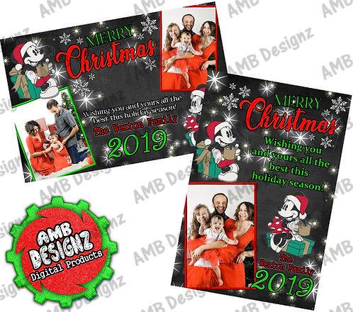 Vintage Mickey Minnie Christmas Greeting Card - Mickey Minnie Christmas card