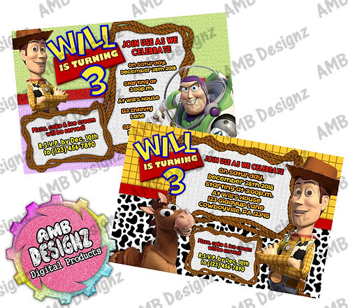 Toy Story Invitations - Toy Story Party Supplies