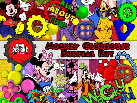 Mickey Mouse Digital Scrapbooking