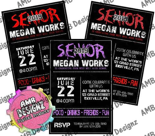 Senior Year Graduation Invitations - Graduation Party Supplies