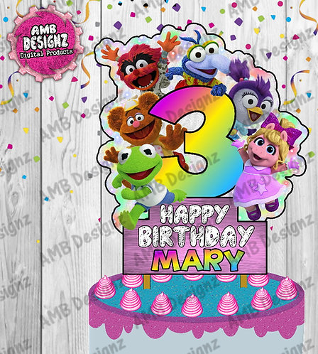 Muppet Babies Cake Topper Centerpiece - Muppet Babies Party Supplies