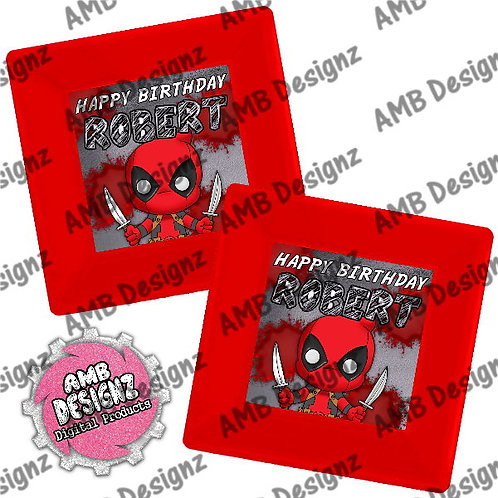 Deadpool Party Plates Party Supplies
