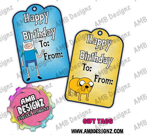 Adventure Time Gift Tag Party Favors - Adventure Time Party Supplies