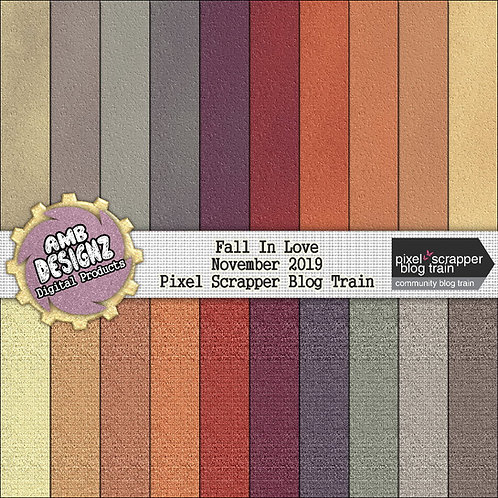 Fall In Love Digital Scrapbooking Paper Pack