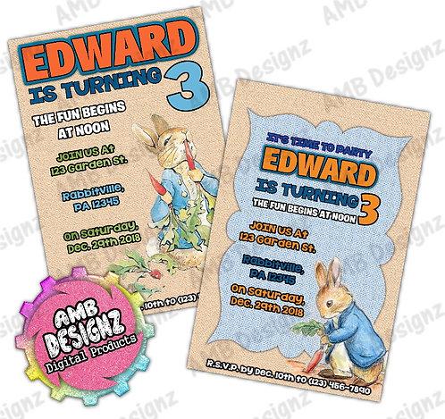 Peter Rabbit Invitations - Peter Rabbit Party Supplies