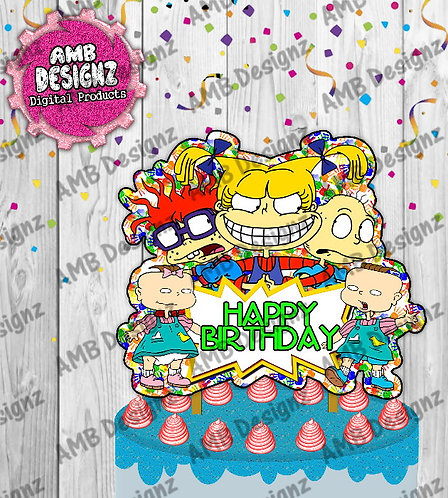 Rugrats Cake Topper Centerpiece