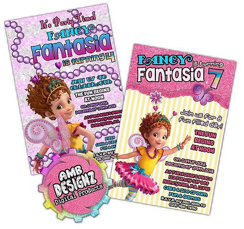 Fancy Nancy Invitations Custom Digital Invitation