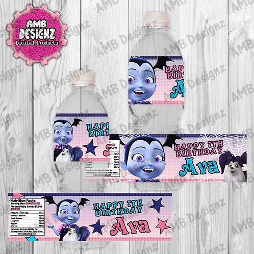 Vampirina Water Bottle Wrap Party Supplies