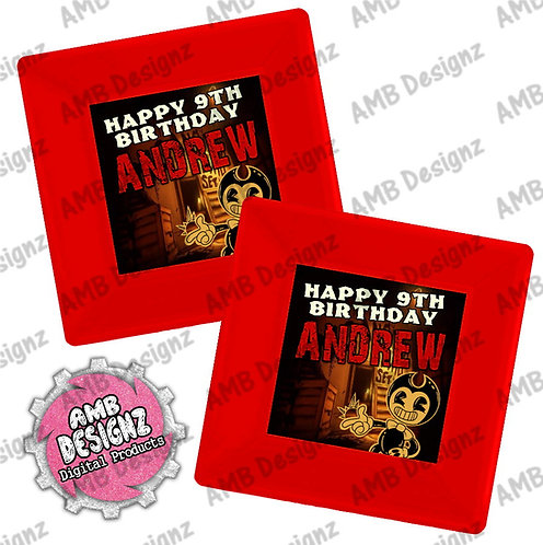 Bendy and the ink Machine Party Plates - Bendy & the ink Machine Party Supplies