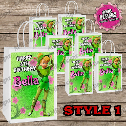 Tinkerbell Fairies Favor Bag Label Party Supplies - Tinkerbell Party Supplies