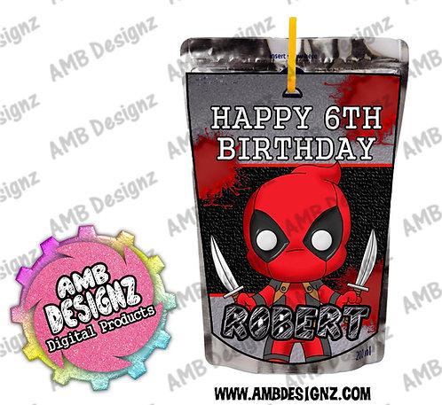 Deadpool Capri-Sun Juice Pouch Label