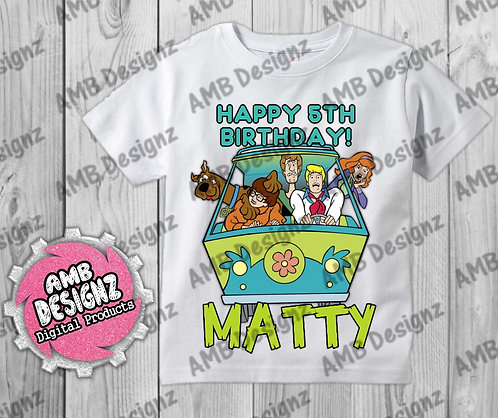 Scooby Doo T-Shirt Birthday Image - Scooby Doo Party Supplies