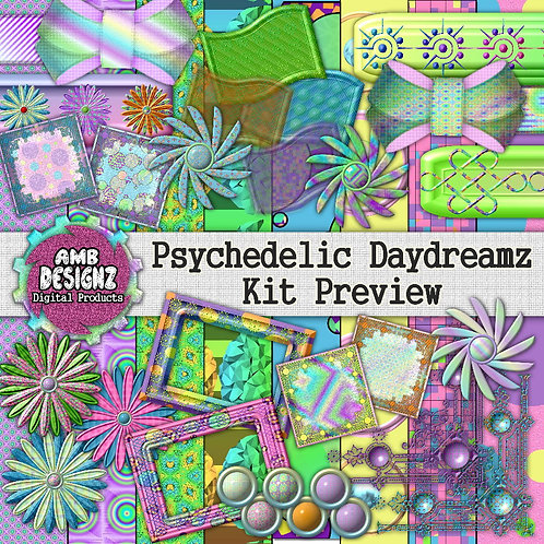 Psychedelic Daydreamz Digital Scrapbooking Kit