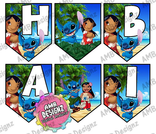 Lilo and Stitch Party Banner -  Lilo and Stitch Party Supplies