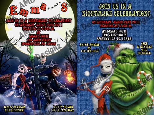 Nightmare Before Christmas Invitations