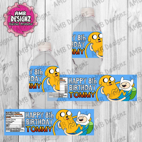 Adventure Time Water Bottle Wrap Party Supplies