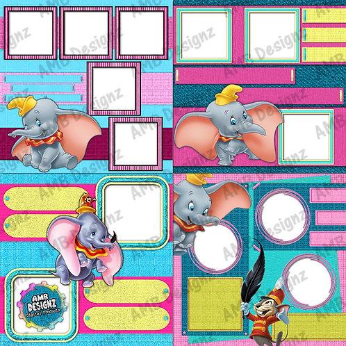 Dumbo Digital Scrapbooking Premade Album/Pages 2