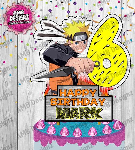 Naruto Cake Topper Centerpiece - Naruto Party Supplies