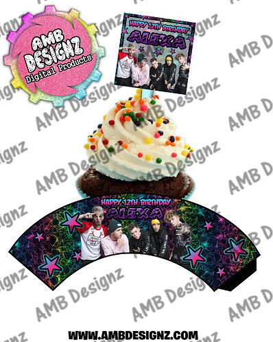 Why Don't We Cupcake Topper Why Don't We Cupcake wrapper - Why Don't We Party Supplies