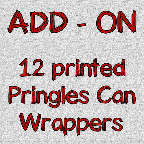 Printed Pringles Can wrappers and labels - ADD-ON
