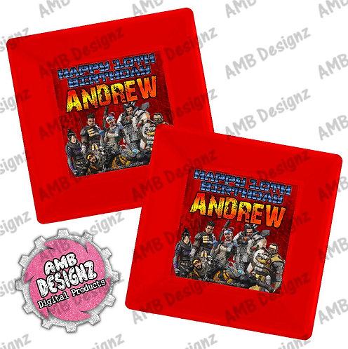 Apex Legends Party Plates - Apex Legends Party Supplies