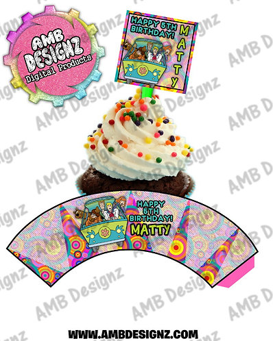 Scooby Doo Cupcake Topper and Scooby Doo Cupcake wrapper