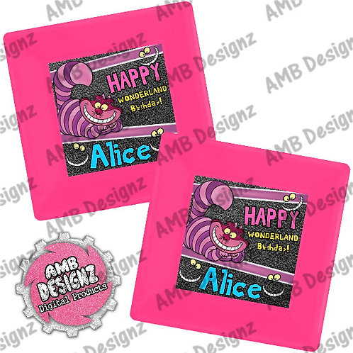 Alice in Wonderland Party Plates Party Supplies