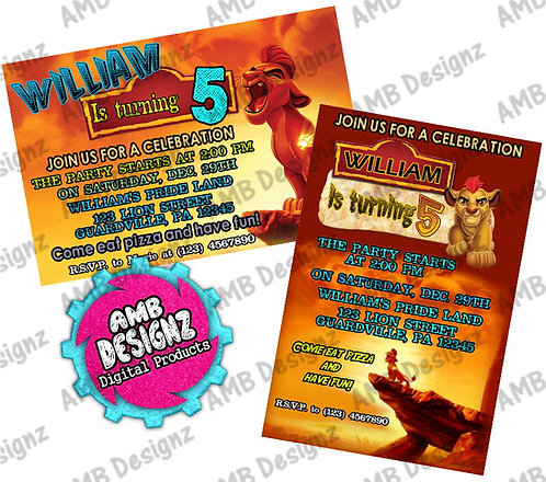 Lion Guard - Lion King Invitations - Lion Guard Party Supplies