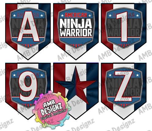 American Ninja Warrior Party Banner -  American Ninja Warrior Party Supplies