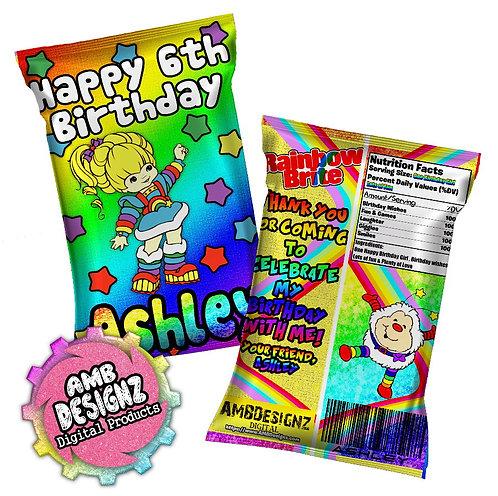 Rainbow Brite Chip Bag Party Favor Party Supplies