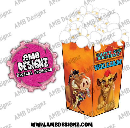 Lion Guard - Lion King Popcorn Box Favor - Lion Guard - Lion King Party Supplies