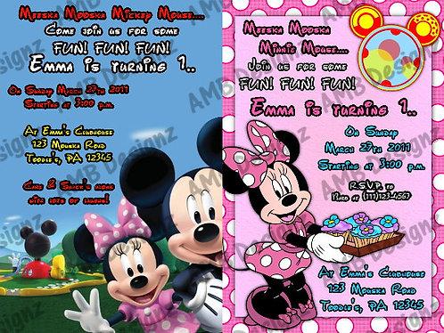 Mickey Mouse Clubhouse Custom Digital Invitation
