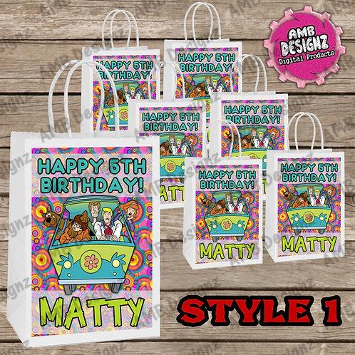 Scooby Doo Favor Bag Label Party Supplies - Scooby Doo Party Supplies