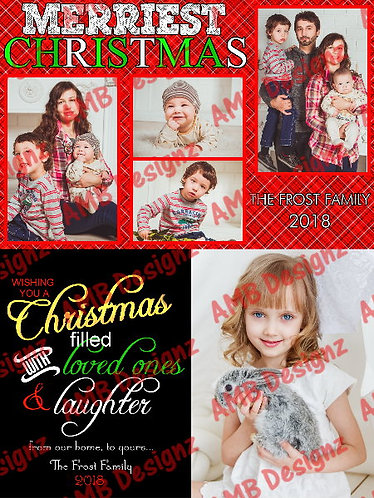 Christmas Photo Custom Christmas Greeting Card Set 2