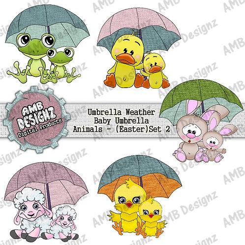 Baby Umbrella Animals Pack 2 - Baby Animal Elements