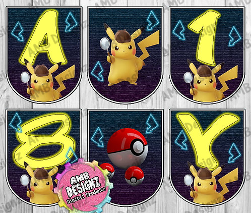 Pikachu Detective Party Banner - Pikachu Detective Party Supplies