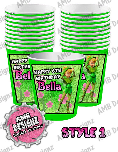 Tinkerbell Fairies Party Cups - Tinkerbell Fairies Party Supplies