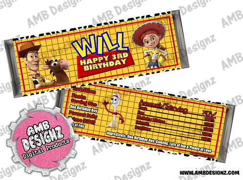 Toy Story Candy Bar Wrapper - Toy Story Party Supplies